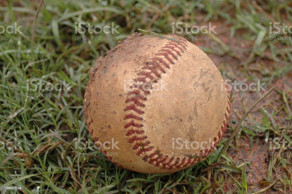 Old Baseball stock photo