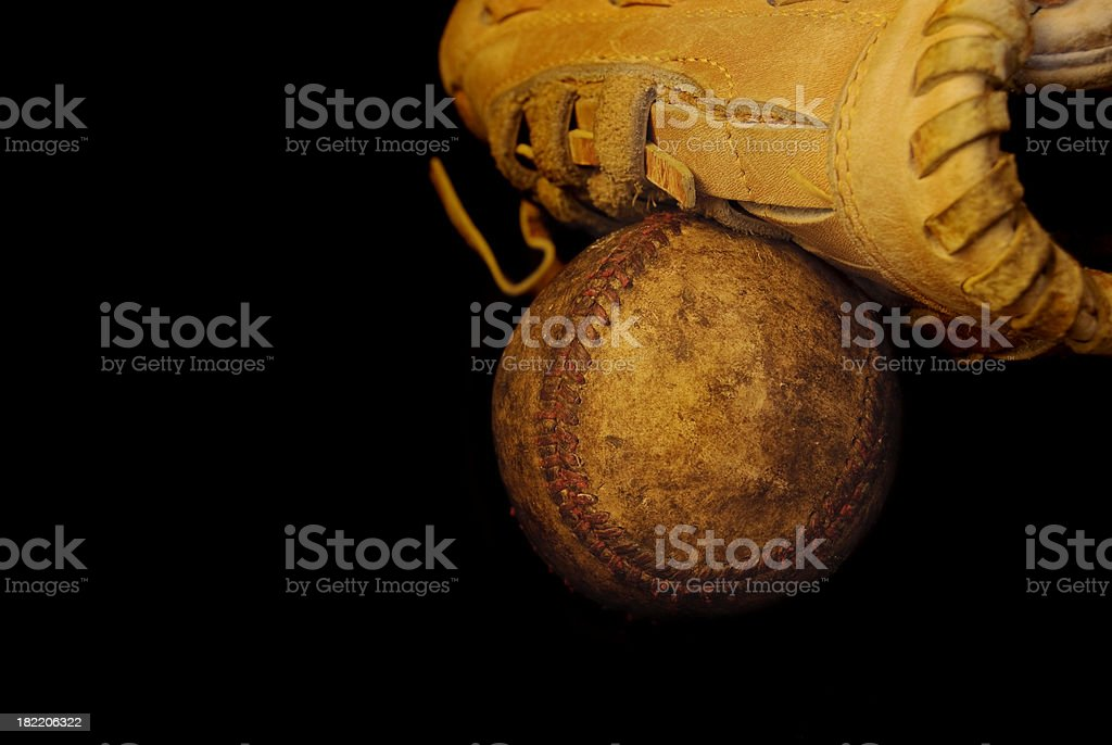 Old Baseball royalty-free stock photo