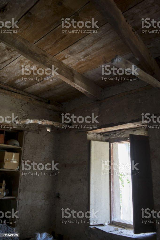 old basement stock photo