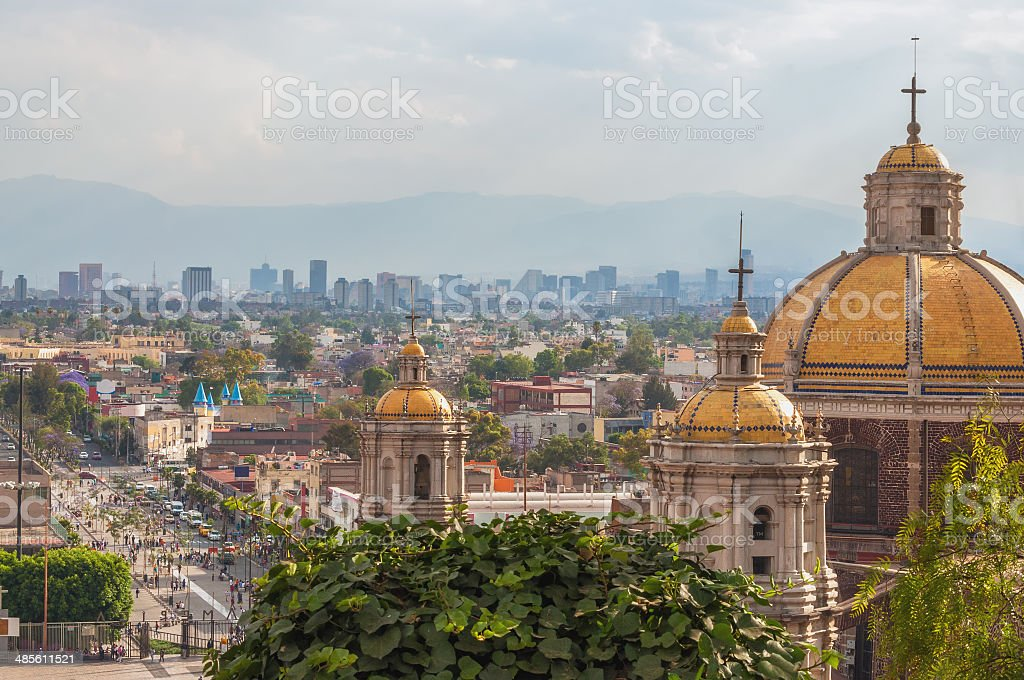Old Basilica of Guadalupe stock photo