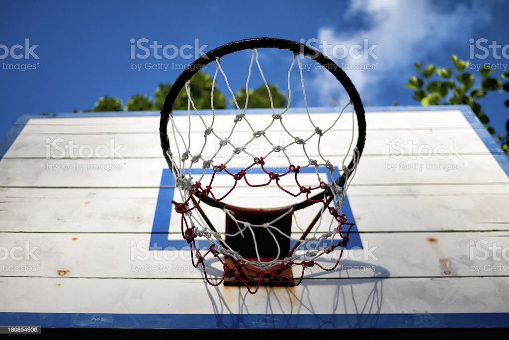 Old basketball backboard royalty-free stock photo