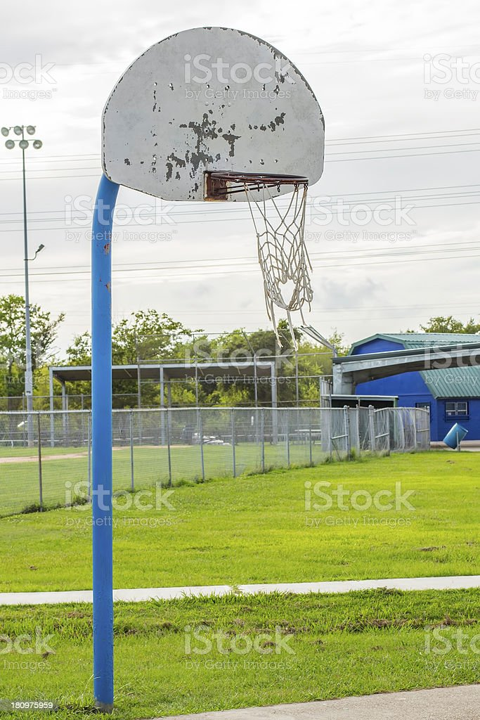 Old Basketball Hoop 2 royalty-free stock photo