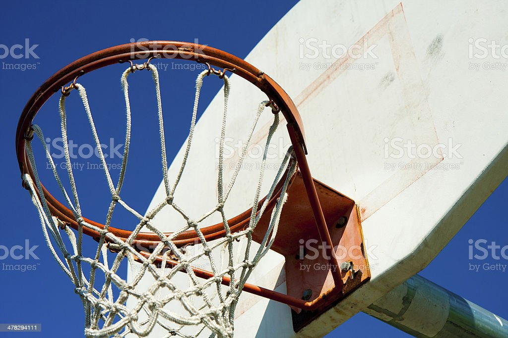 Old basketball hoop in public park royalty-free stock photo