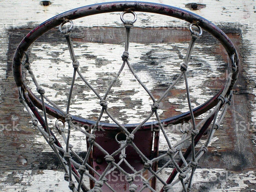 Old Basketball Hoop royalty-free stock photo