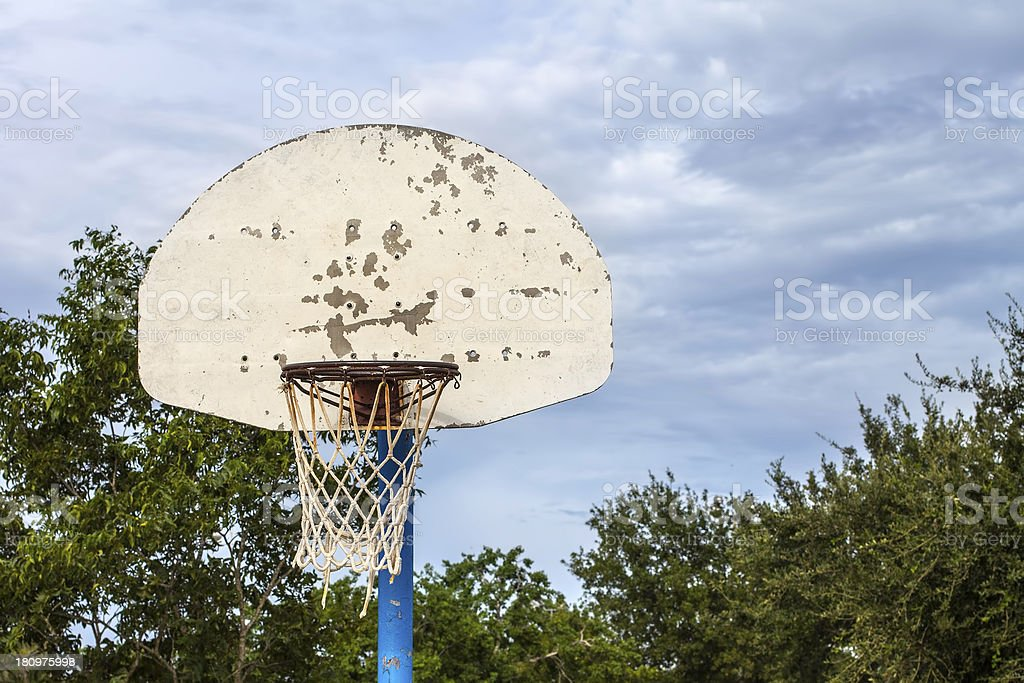 Old Basketball Hoop royalty-free stock photo