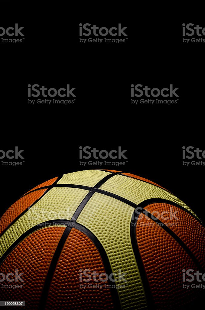 Old Basketball royalty-free stock photo