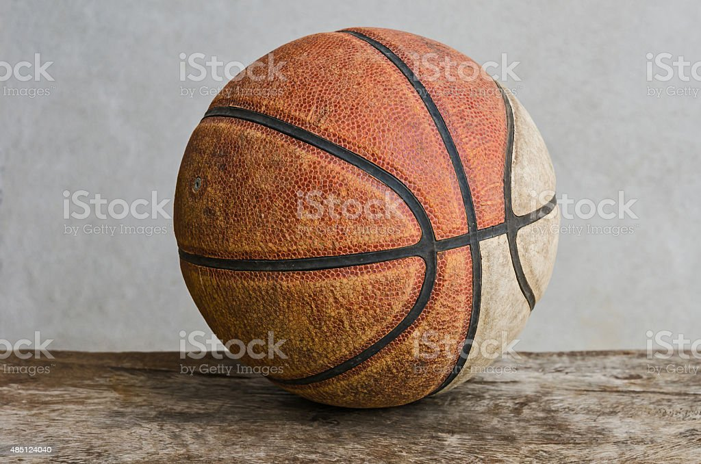 Old basketball stock photo