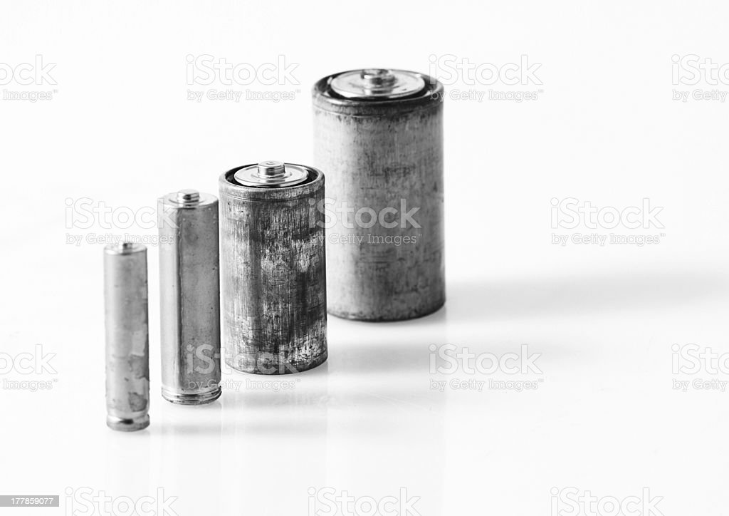 Old batteries royalty-free stock photo