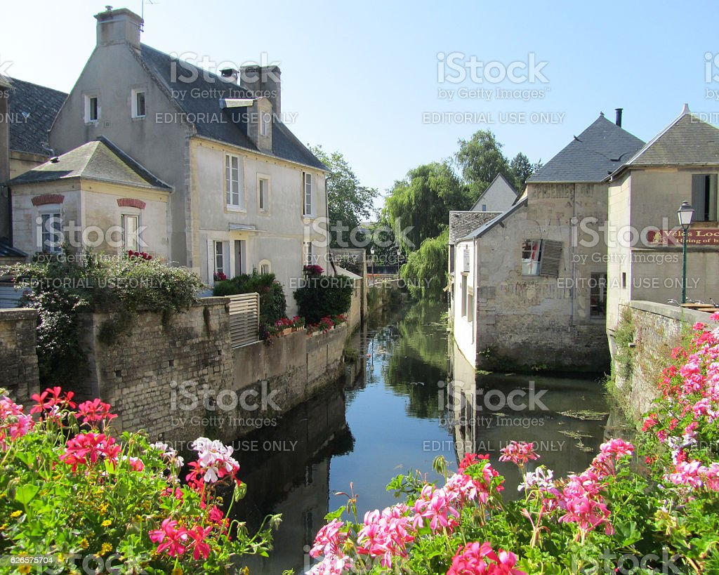 Old Bayeux Town stock photo