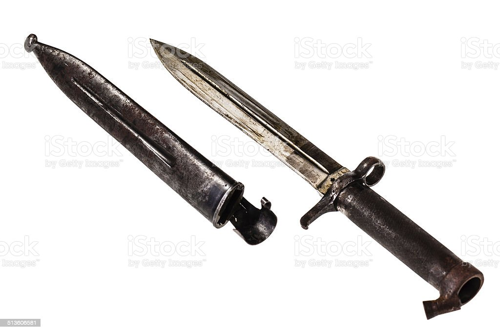 Old bayonet stock photo