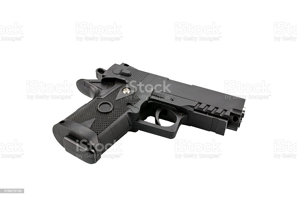 Old BB gun isolated on white stock photo