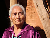 Old Beautiful Elderly Navajo Woman