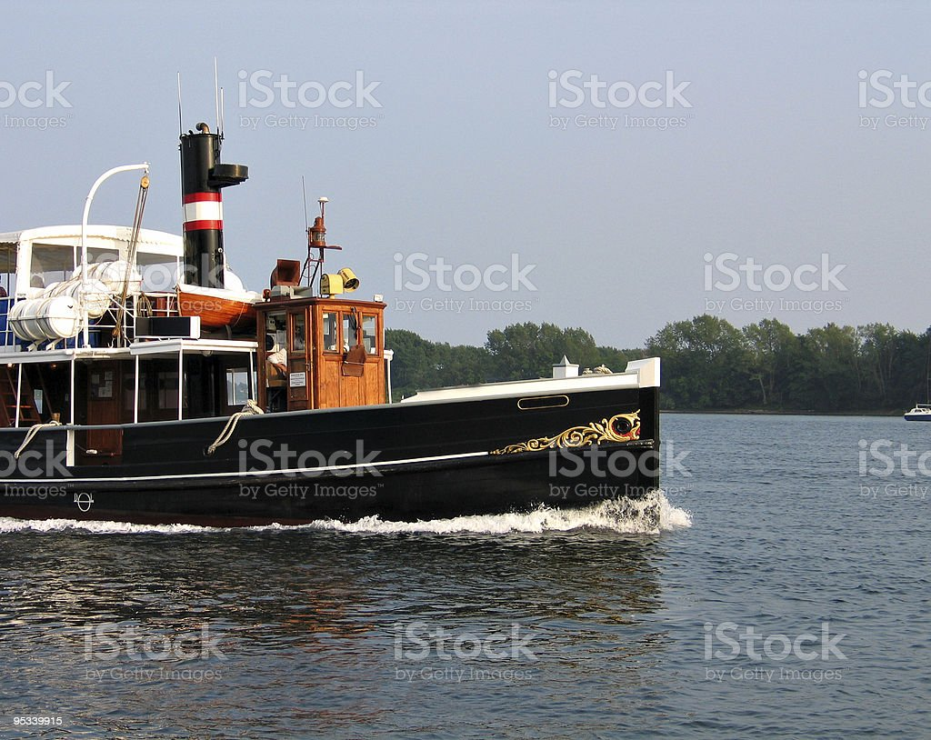 Old beautiful steam boat royalty-free stock photo