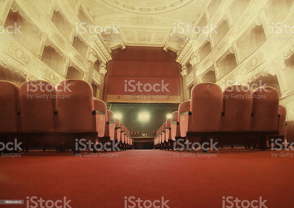 old beautiful theatre royalty-free stock photo