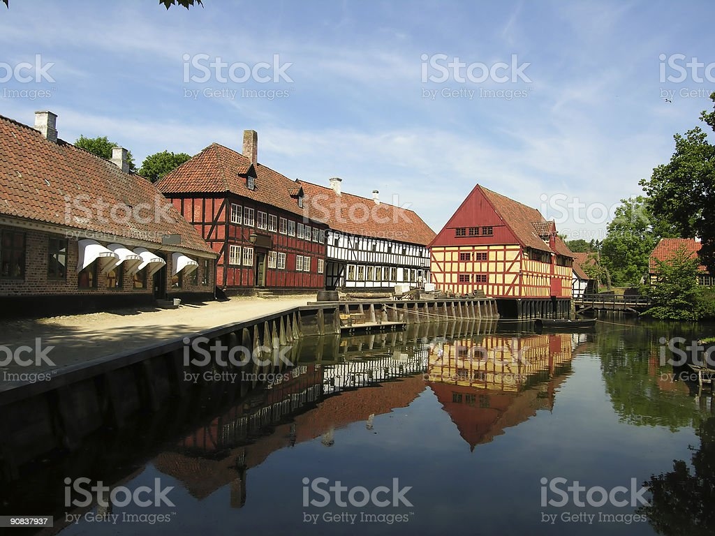 Old beautiful town royalty-free stock photo