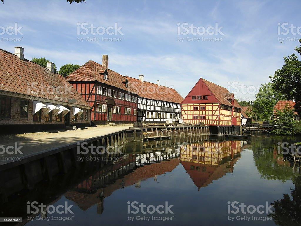 Old beautiful town stock photo