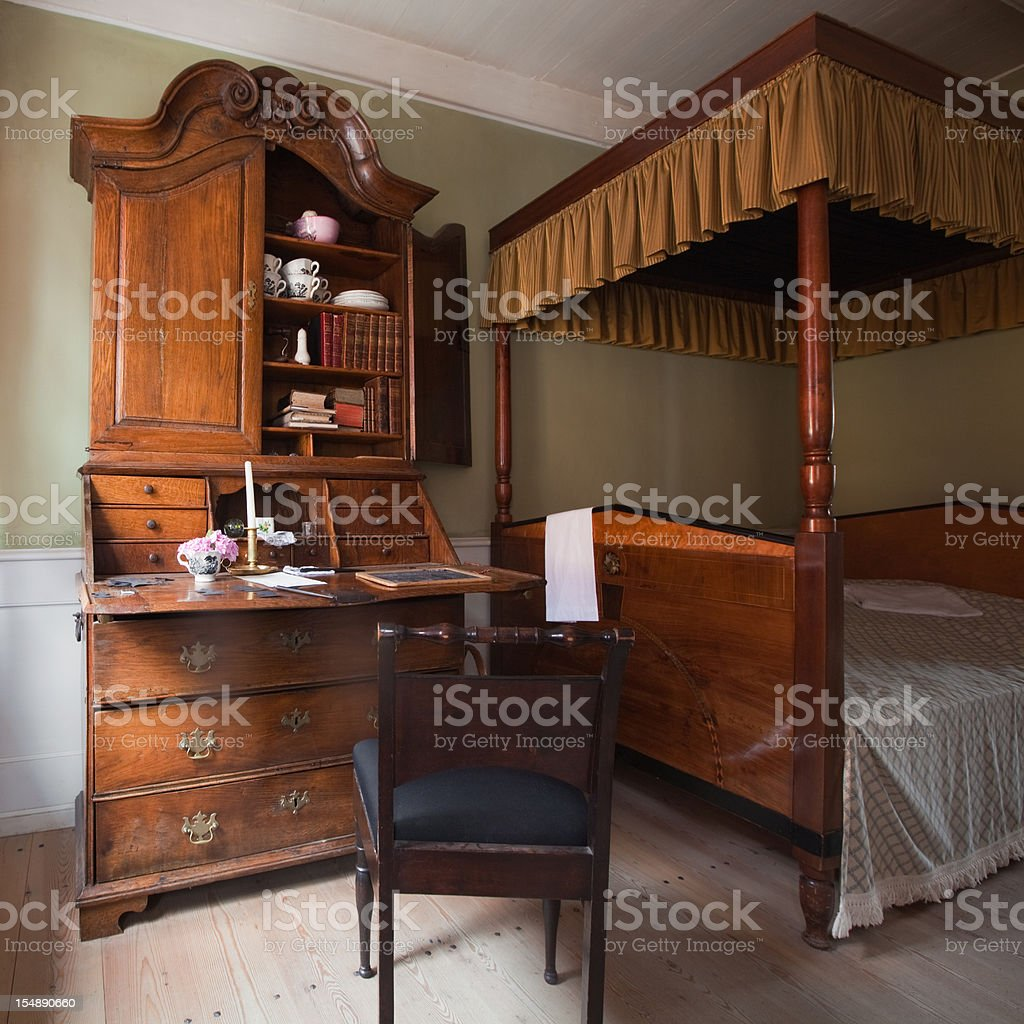 old bedroom royalty-free stock photo