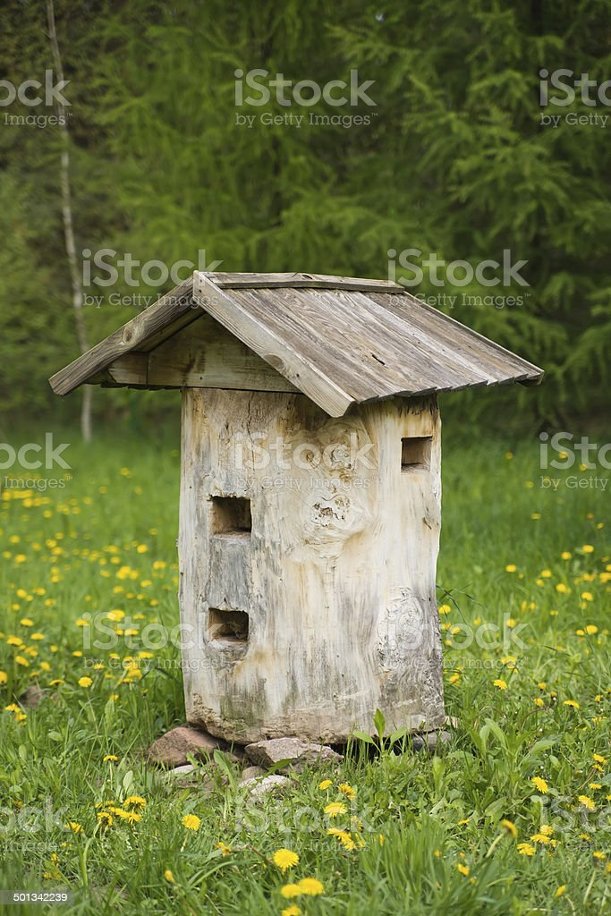 Old bee hive royalty-free stock photo