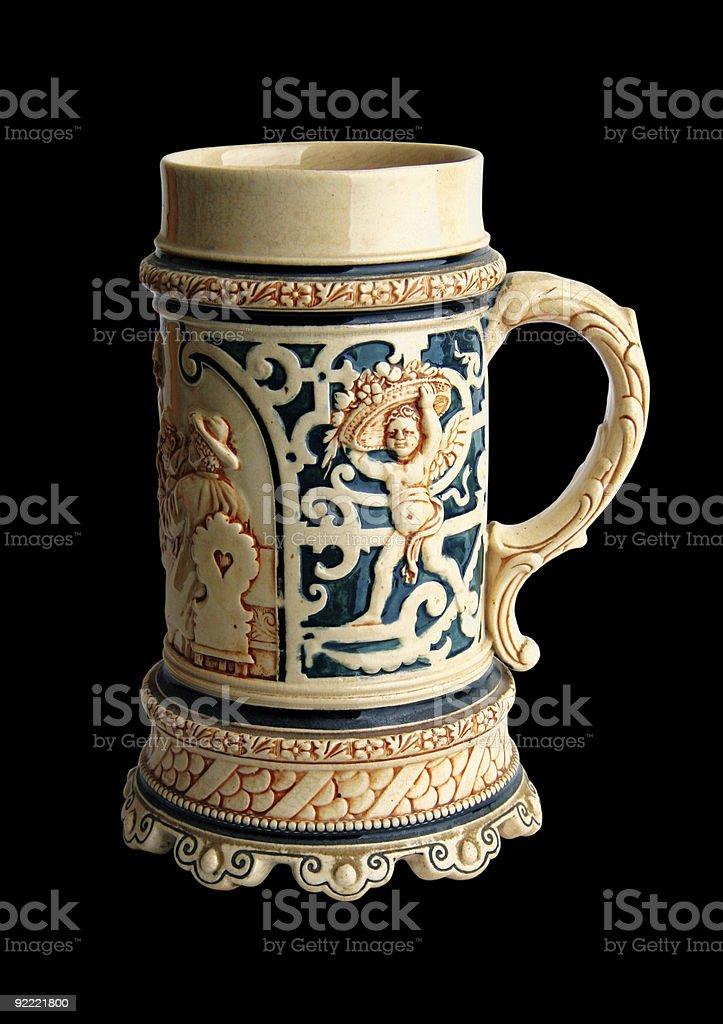 Old   beer mug royalty-free stock photo