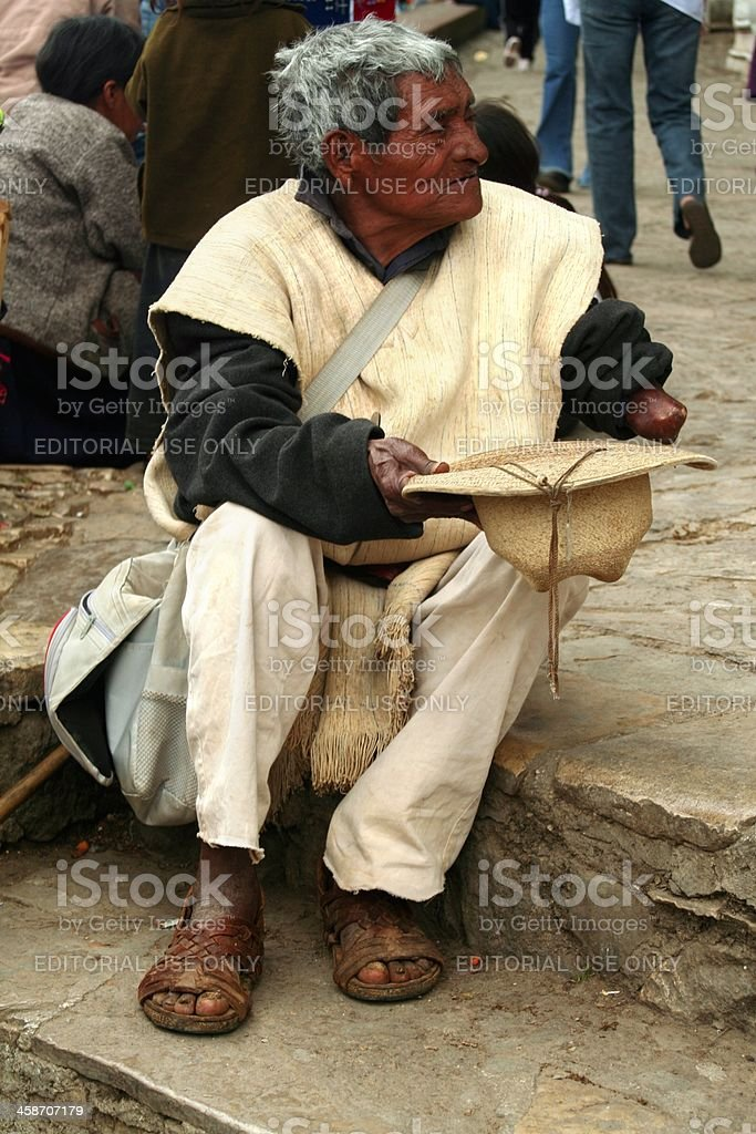 Old beggar royalty-free stock photo