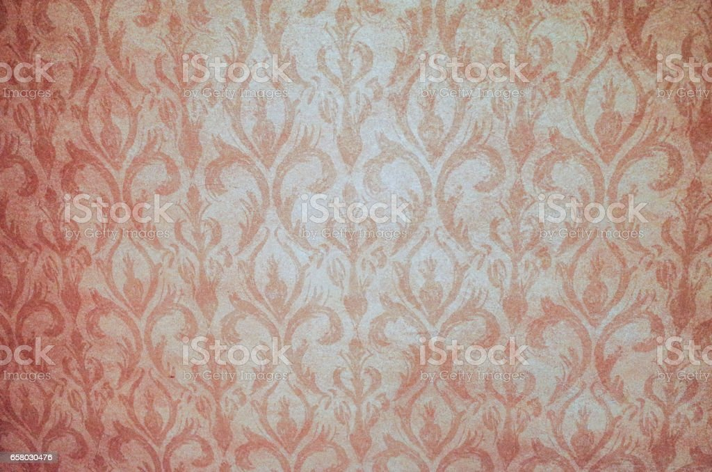 Old beige wallpaper for texture or background stock photo