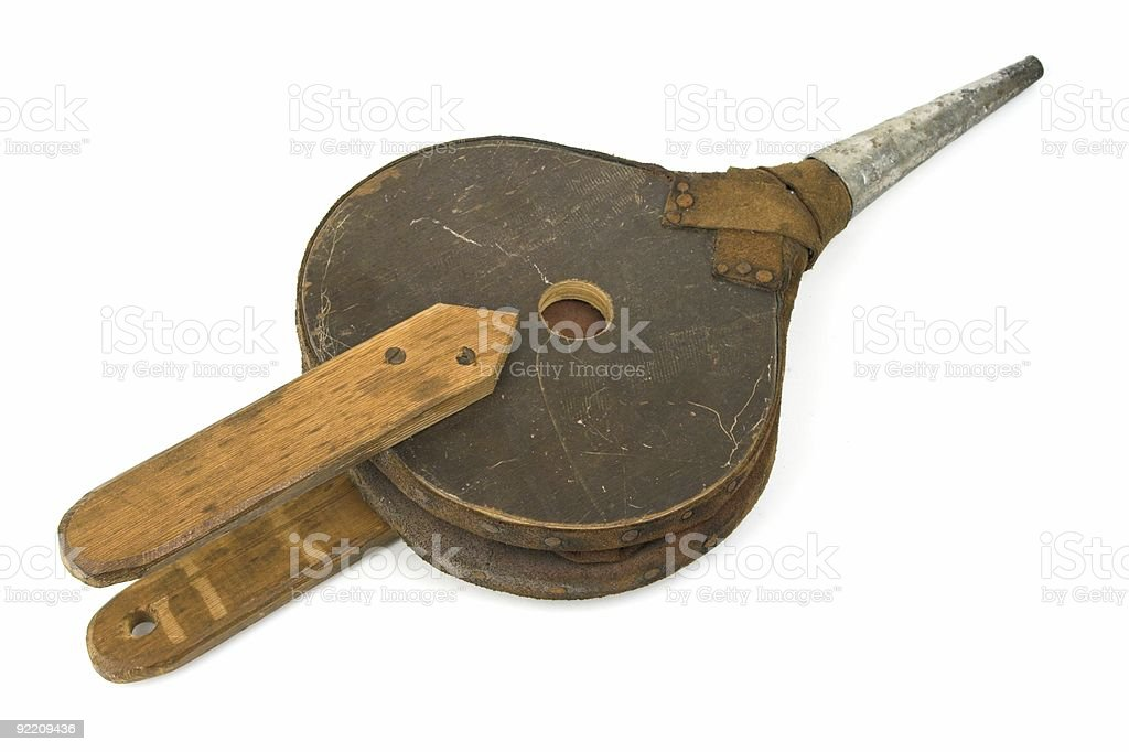 Old Bellows stock photo