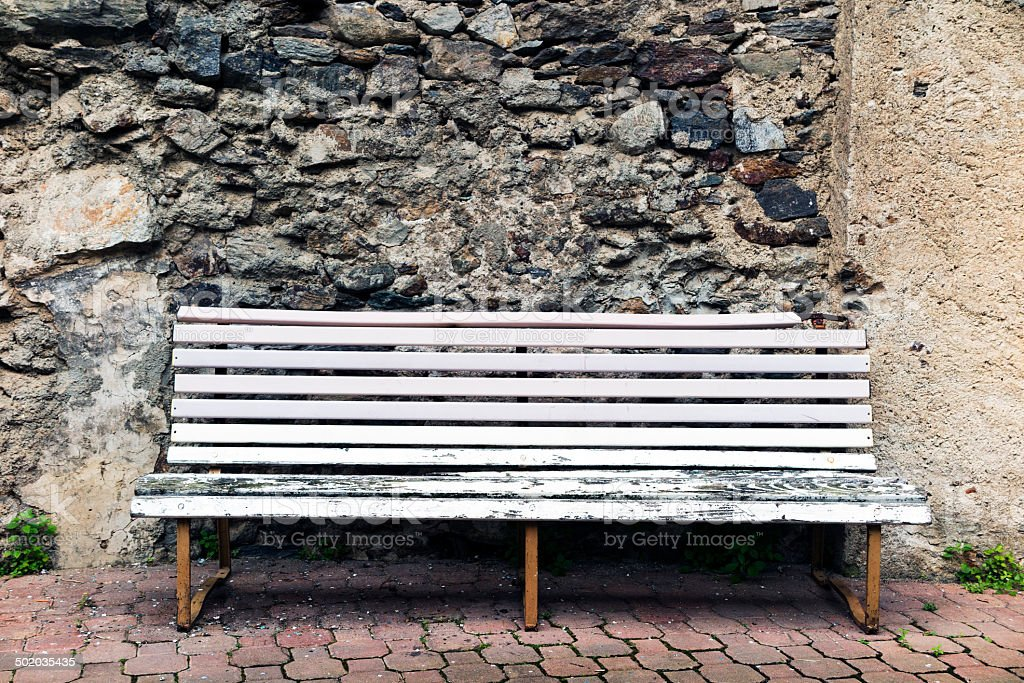 Old Bench. Color Image royalty-free stock photo