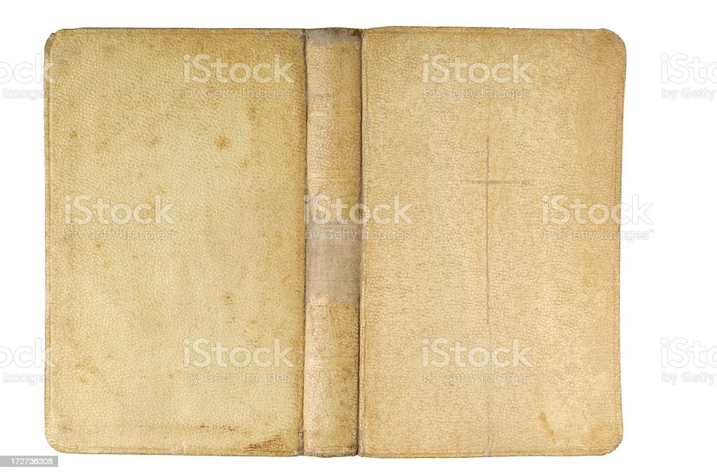Old Bible Front, Back and Spine stock photo
