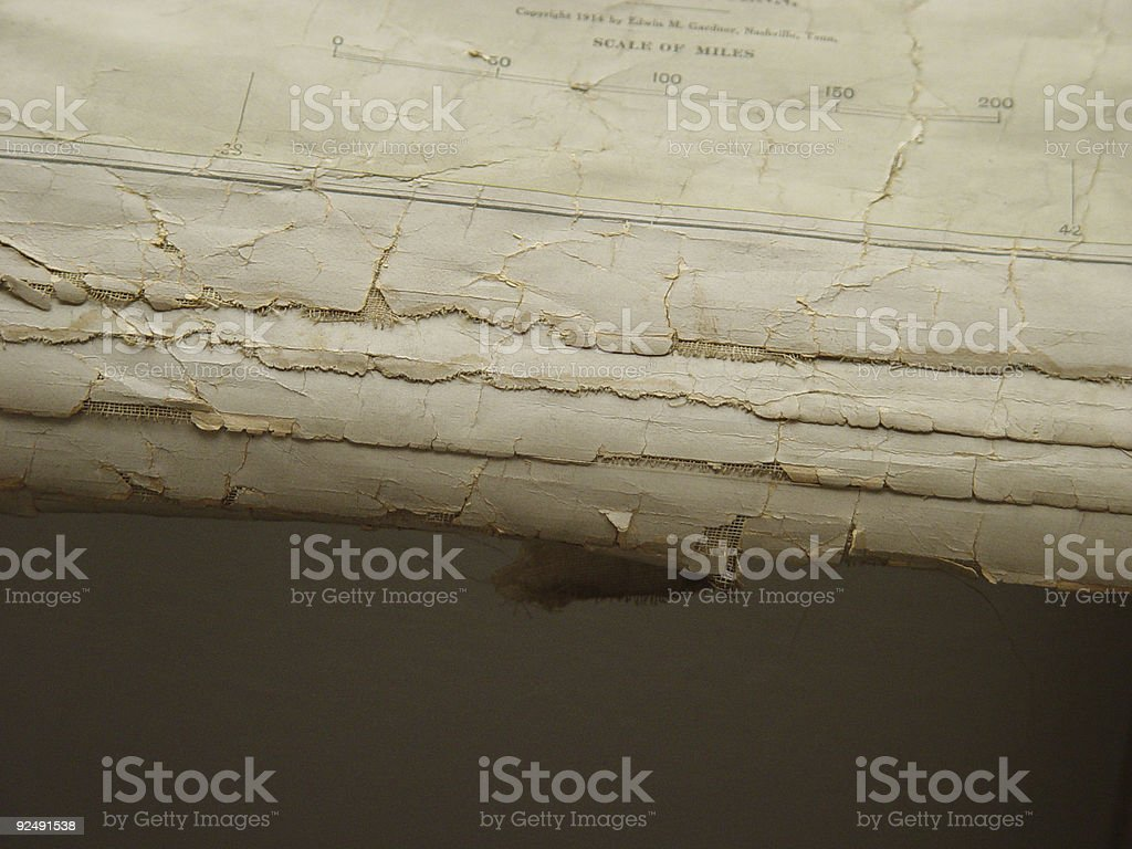 Old Biblical Map stock photo