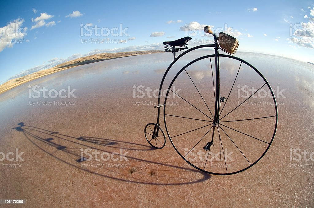 old bicycle royalty-free stock photo