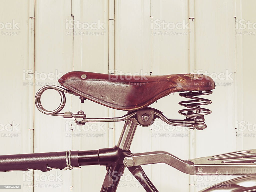 Old bicycle (vintage effect style) stock photo
