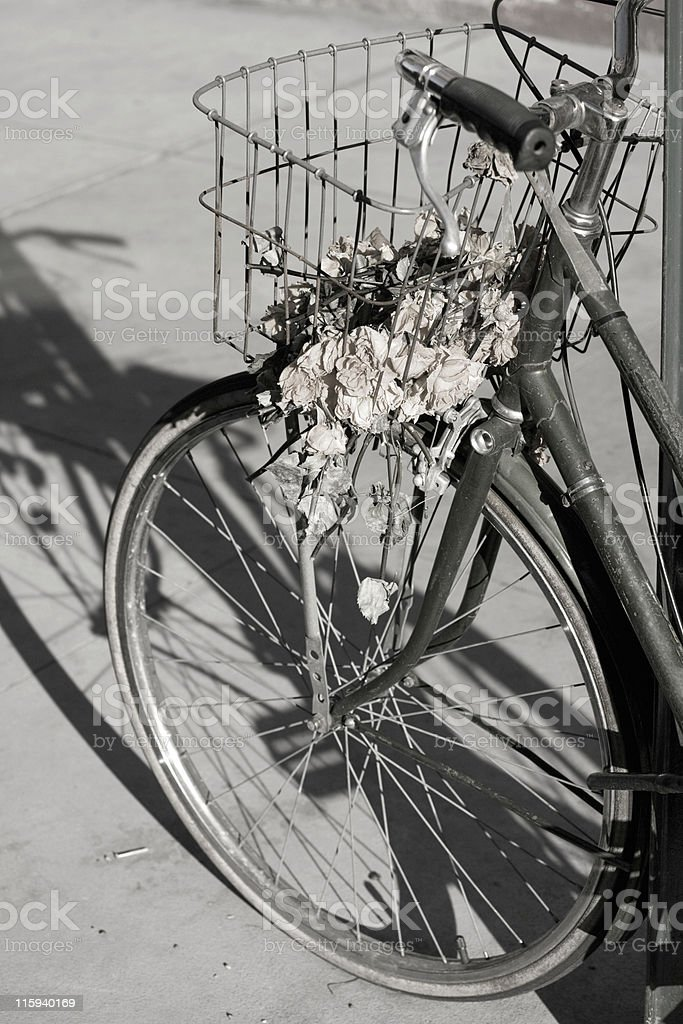 Old bike BW royalty-free stock photo