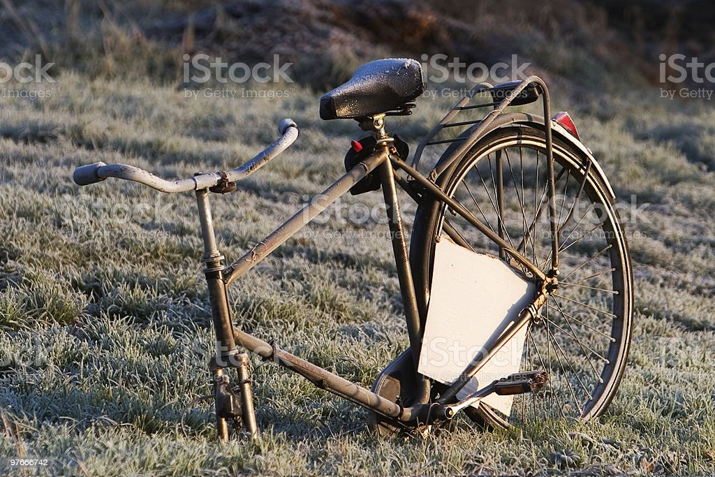 old bike without frontwheel royalty-free stock photo