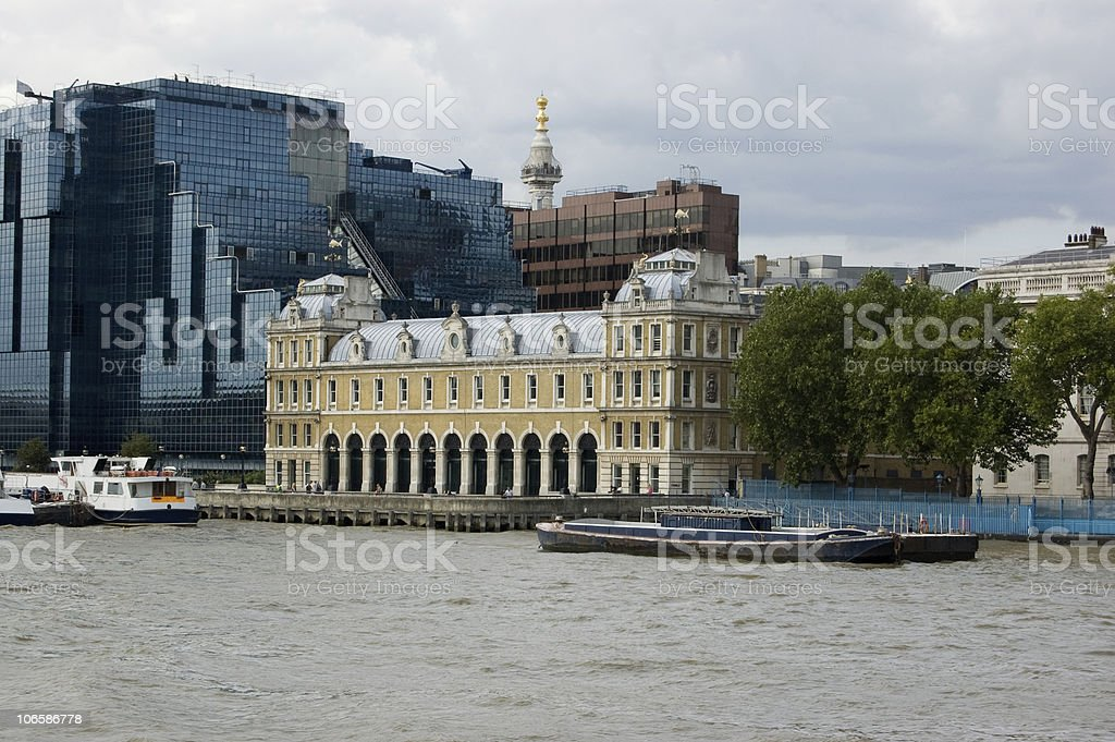 Old Billingsgate Fish Market, City of London stock photo