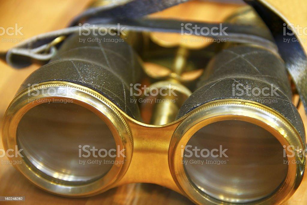 Old binoculars royalty-free stock photo