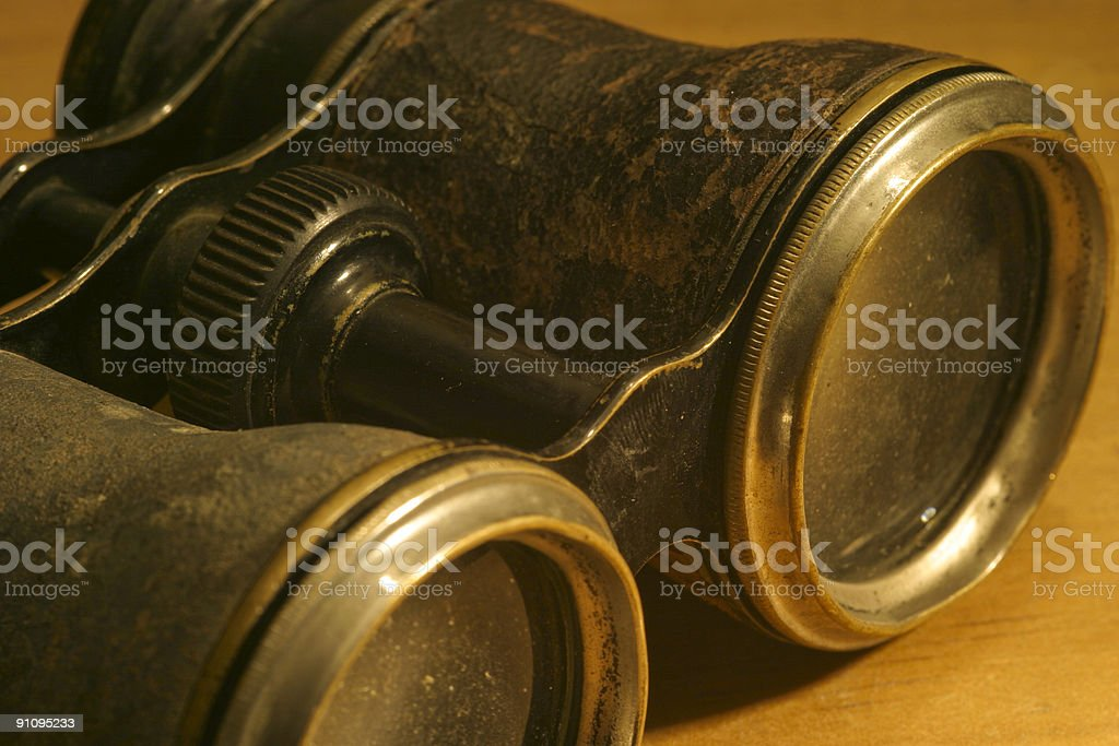 Old Binoculars stock photo