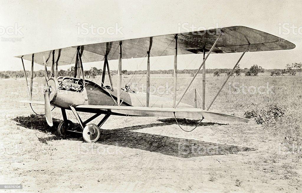 Old Bi-Plane stock photo