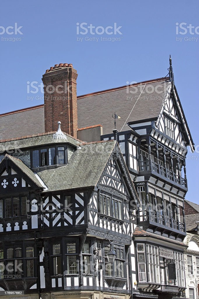 Old Black and White Building in Chester royalty-free stock photo