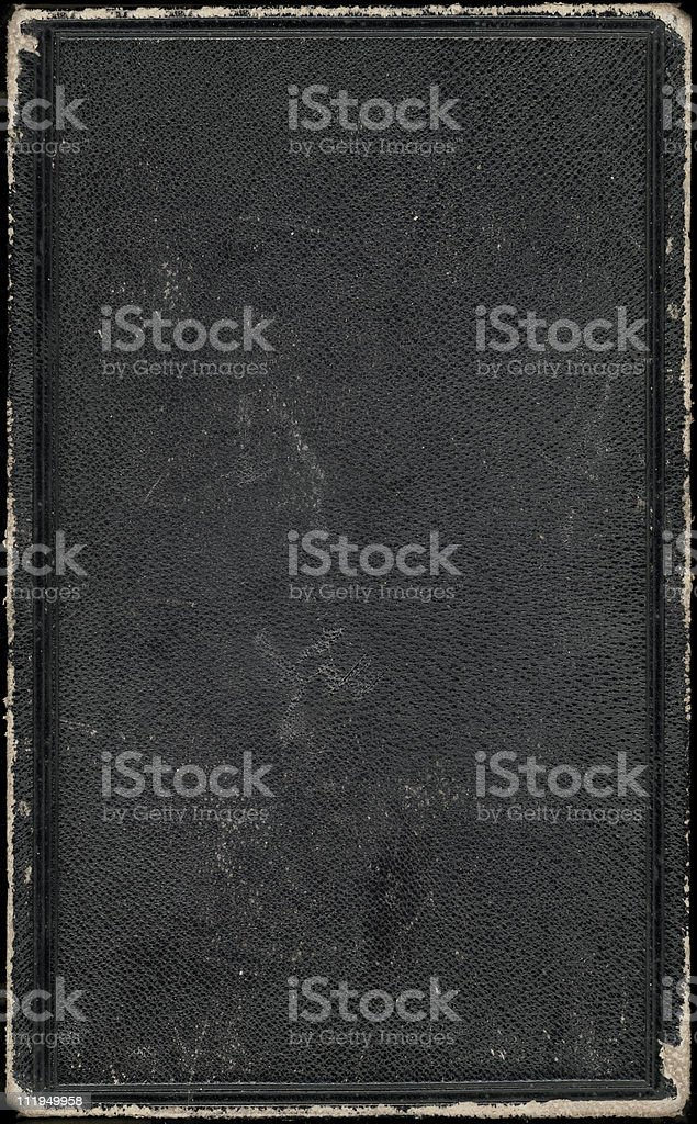 Old black book cover royalty-free stock photo