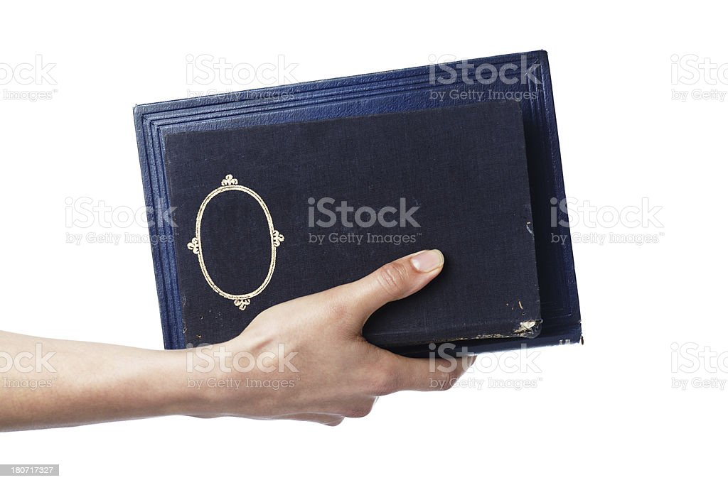 Old black books royalty-free stock photo
