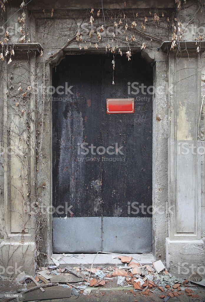 Old black door royalty-free stock photo