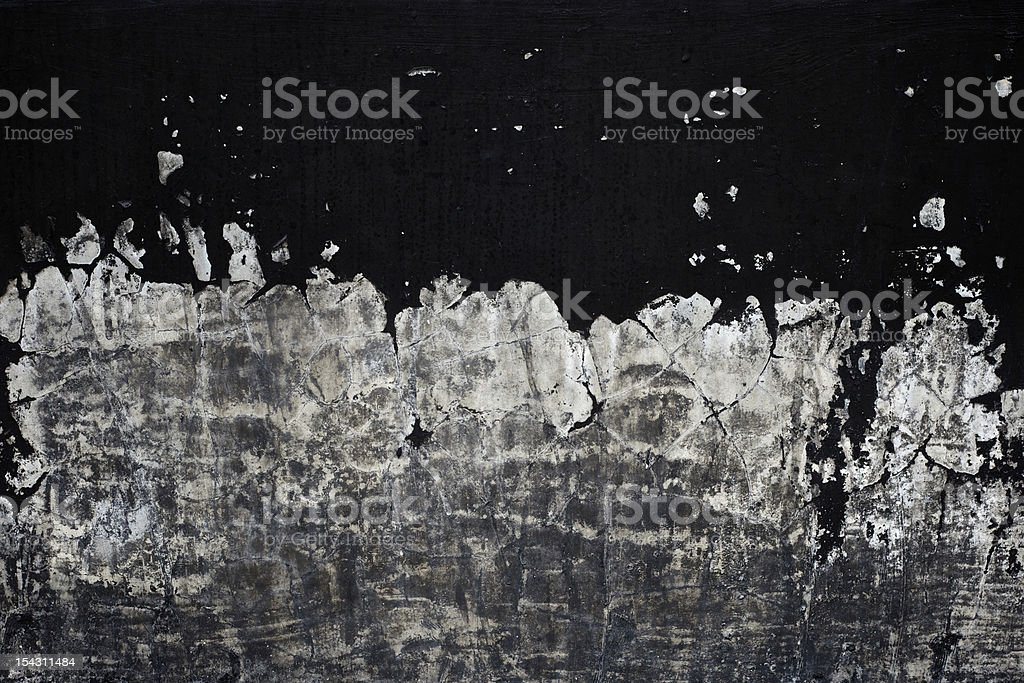 old black paint texture peeling off concrete wall background royalty-free stock photo