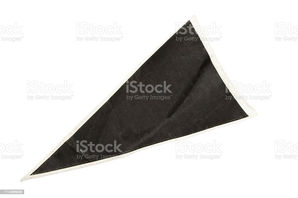 Old Black Pennant royalty-free stock photo