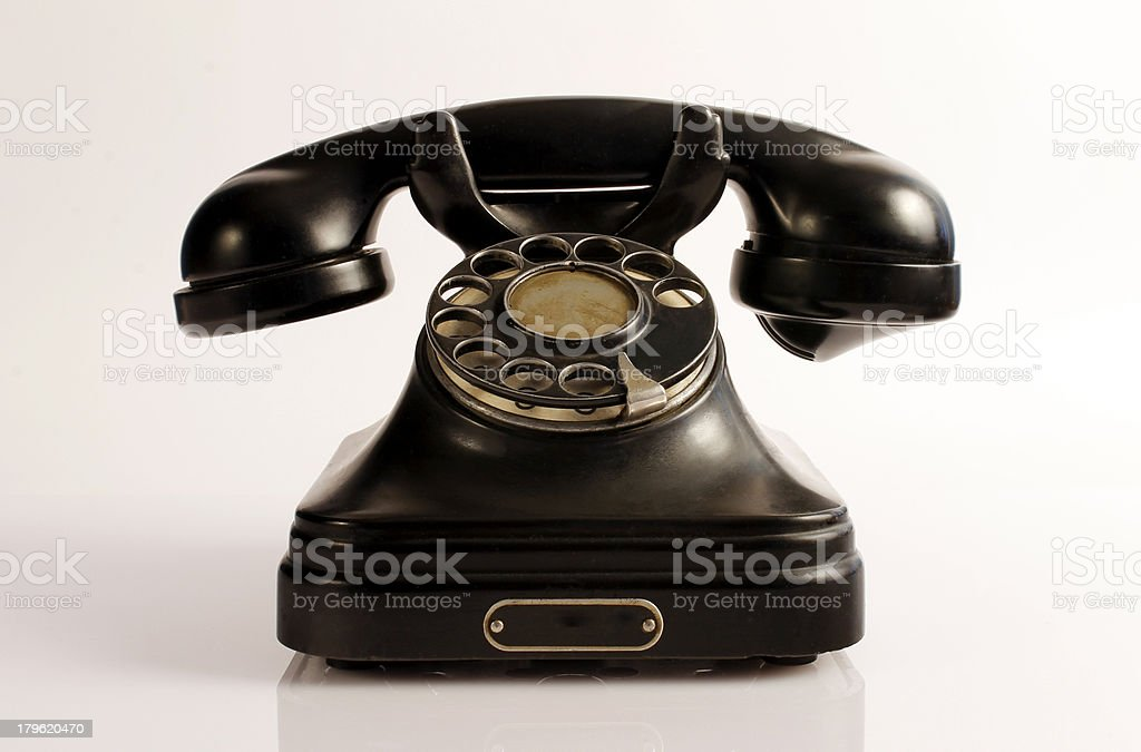 Old Black Phone royalty-free stock photo