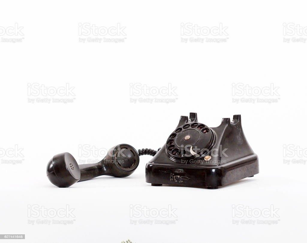 old black phone stock photo