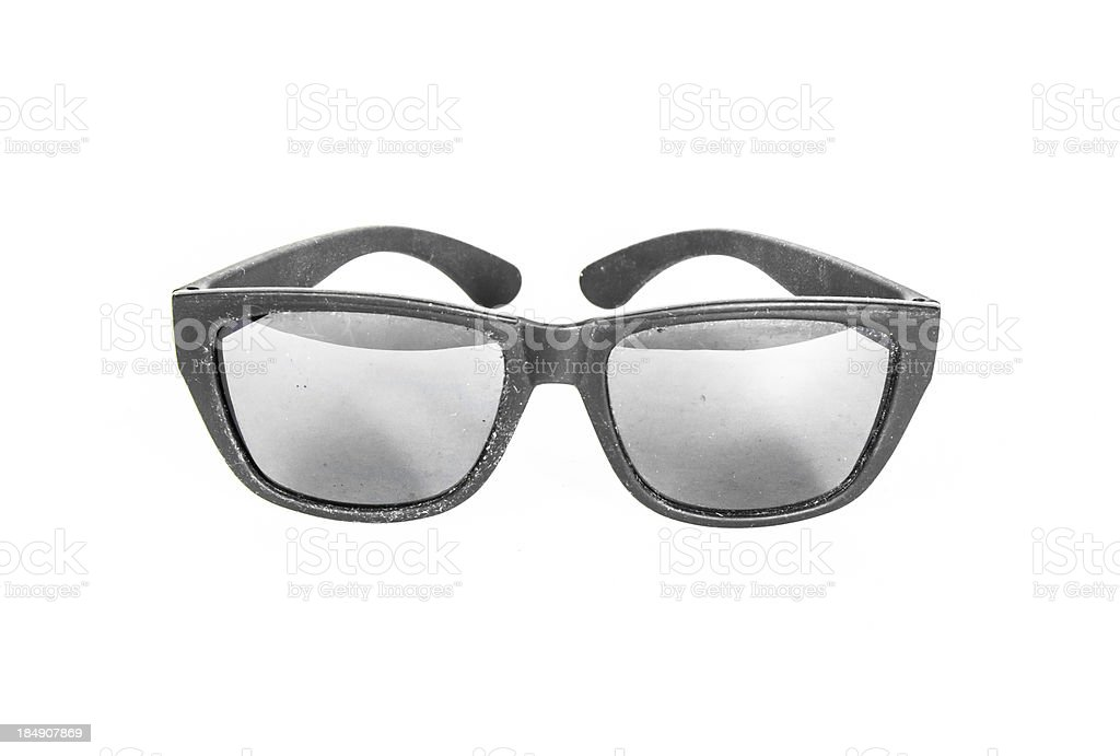 old black sunglasses isolated royalty-free stock photo