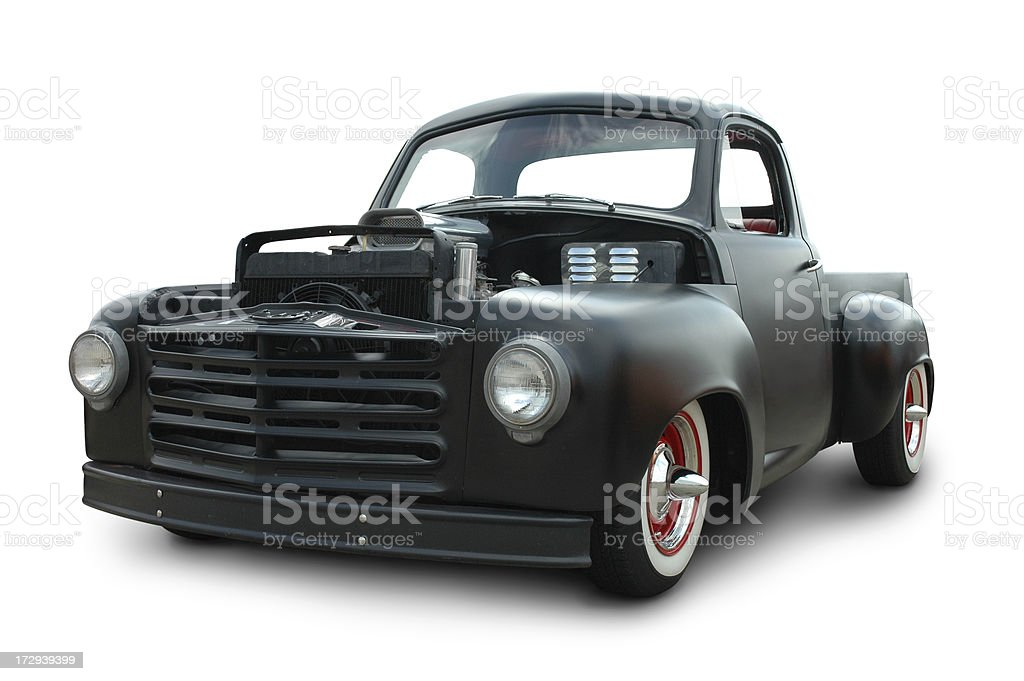 Old Black Truck stock photo