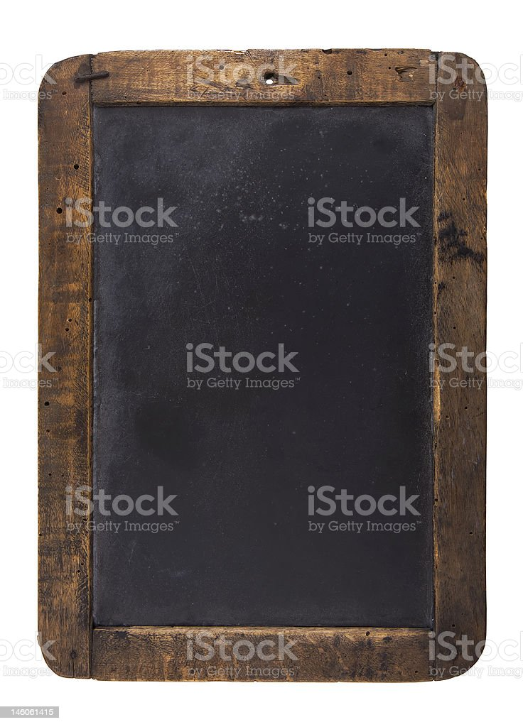 Old blackboard with wooden frame royalty-free stock photo