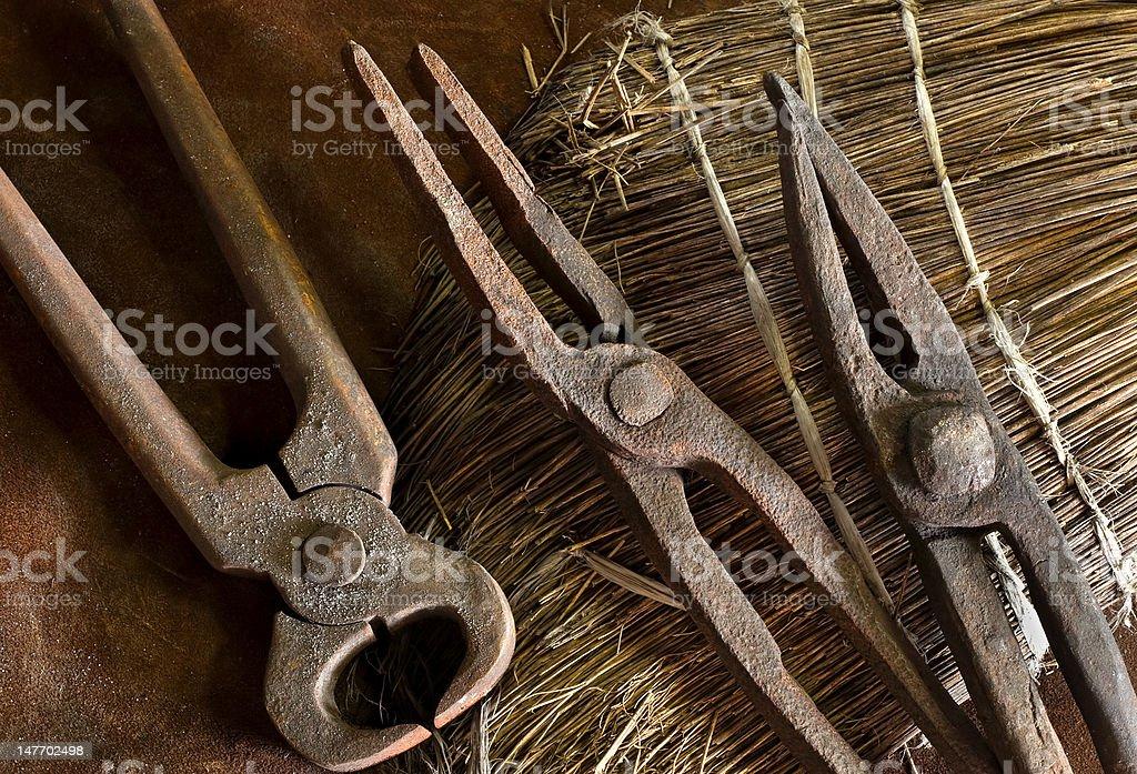old blacksmith tools royalty-free stock photo