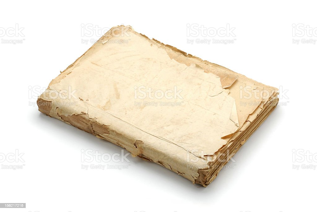 Old blank book royalty-free stock photo